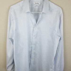 Calvin Klein Slim Fit NonIron Button Down White 16